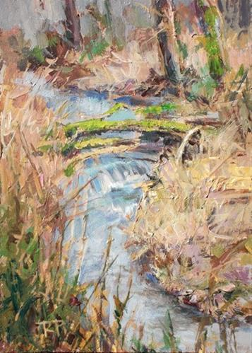 """Winter Creek"" original fine art by Robin Peterson"