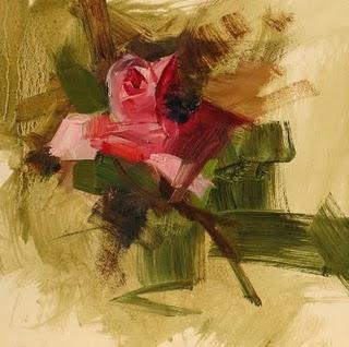 """Rose study 41211"" original fine art by Qiang Huang"