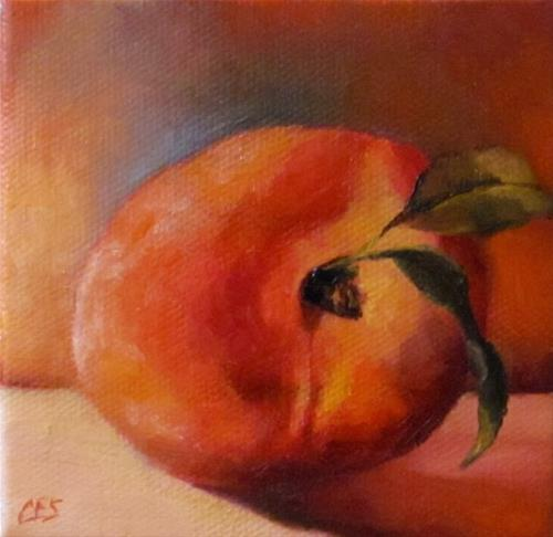 """Peachy"" original fine art by ~ces~ Christine E. S. Code"
