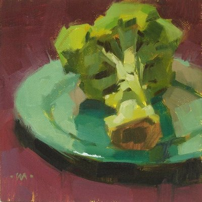 """'Ode to Broccoli"" original fine art by Carol Marine"