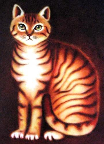 """Tabby Portrait"" original fine art by Karen Roncari"