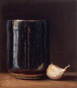 """Winter Tea Bowl with Garlic"" original fine art by Abbey Ryan"