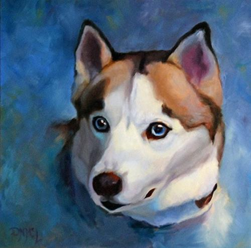 """Jillian's Dog 2"" original fine art by Dorothy McLennan"