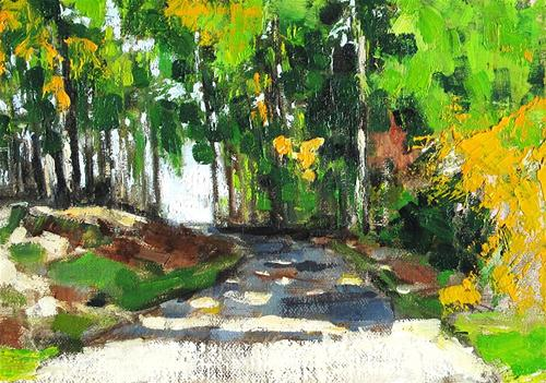 """Virginia Autumn Woods"" original fine art by Kevin Inman"