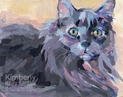 """Hidey and a Surprise"" original fine art by Kimberly Santini"