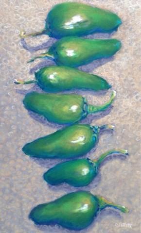 """Jalapeño Harvest"" original fine art by Cindy Gillett"