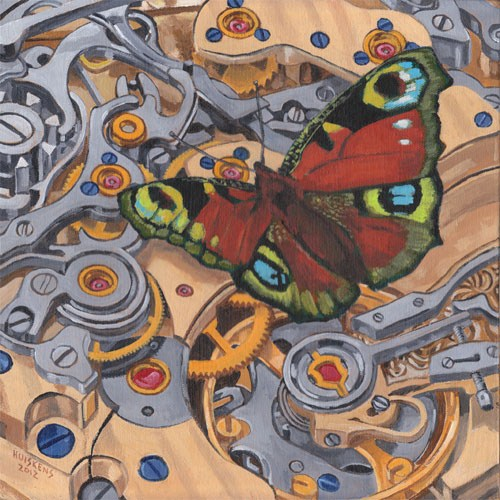 """Clockwork Butterfly No. 10"" original fine art by Randal Huiskens"