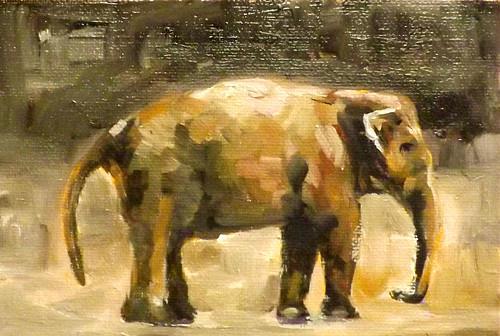 """Elephant,M2"" original fine art by Run-      Zhang Zane"