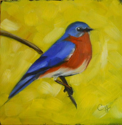 """Bluebird"" original fine art by Claire Henning"