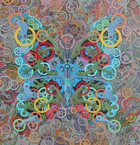 """""""Clockwork Butterfly No. 11"""" original fine art by Randal Huiskens"""