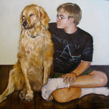 """Shadow and Sam"" original fine art by Terri Buchholz"