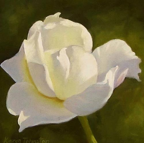 """White Delight"" original fine art by Karen Johnston"
