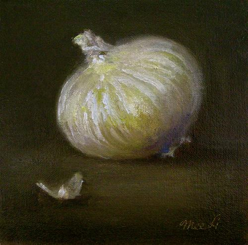"""White Onion"" original fine art by MeeLi Lee"