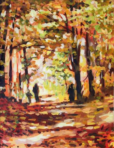 """Fall in Gatineau Park"" original fine art by Elbagir Osman"
