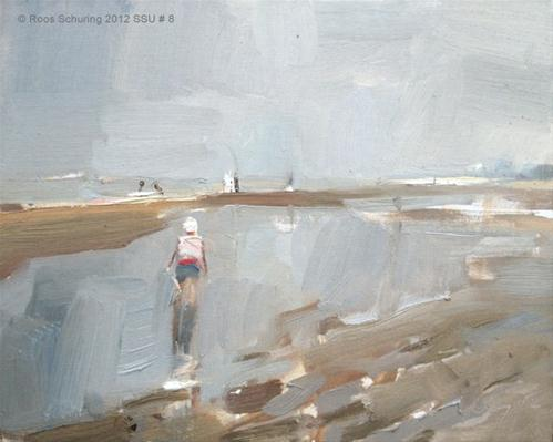 """Seascape summer # 8 Damp atmosphere in summer"" original fine art by Roos Schuring"