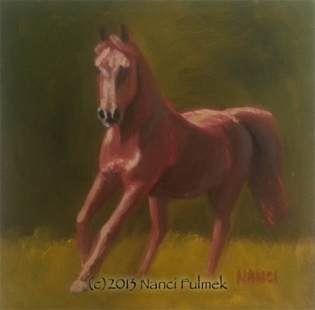 """Kuda Mini Portrait"" original fine art by Nanci Fulmek"