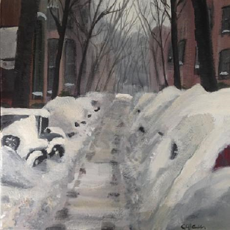 """Northeast Jeep"" original fine art by christina glaser"