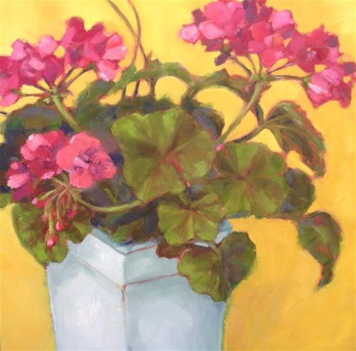 """Geraniums"" original fine art by Krista Eaton"