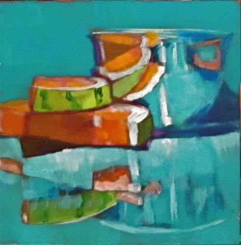 """Reflections On Summer Fun"" original fine art by Christine Holzschuh"