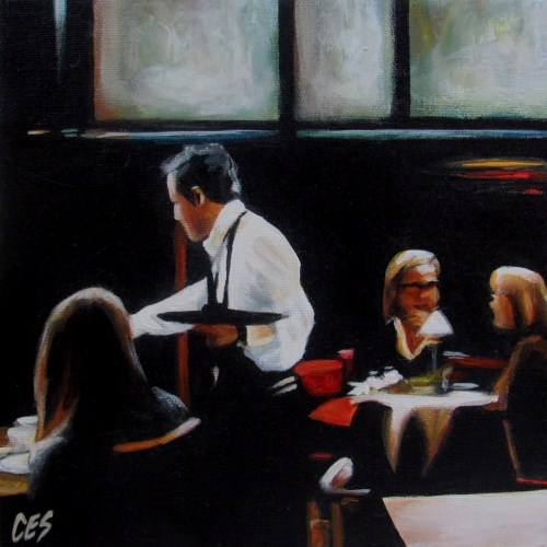 """The Cafe"" original fine art by ~ces~ Christine E. S. Code"