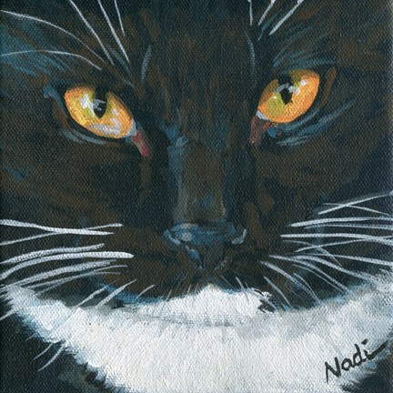 """Cat Eyes 3"" original fine art by Nadi Spencer"
