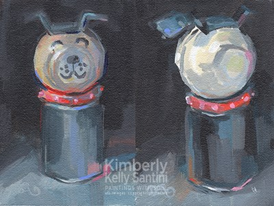 """Bad Dog"" original fine art by Kimberly Santini"