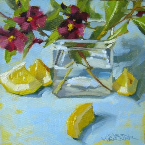 """""""Twigs & Wedges"""" original fine art by Karen Werner"""