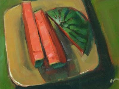 """Watermelon 2"" original fine art by Carol Marine"
