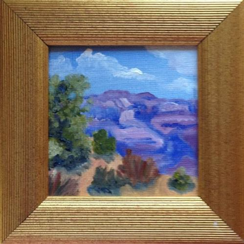 """On The Edge (framed)"" original fine art by Michelle Wolfe"