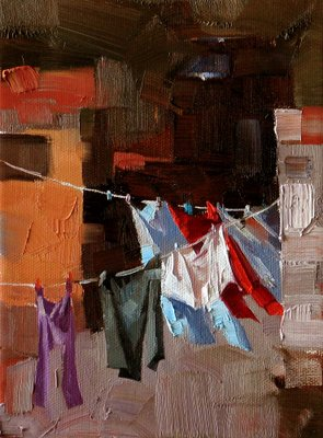 """Natural Dryer --- Sold"" original fine art by Qiang Huang"