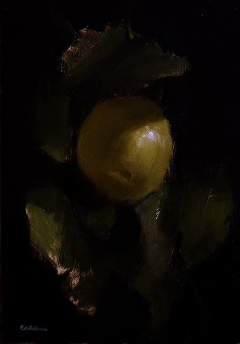 """Lemon with Leaves"" original fine art by Neil Carroll"