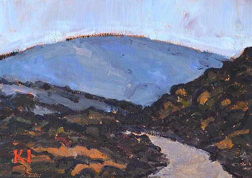 """Mission Trails, Dusk"" original fine art by Kevin Inman"