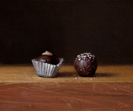 """Still Life with Chocolate Truffles No. 2  (+ 8 days of 24-hour auctions)"" original fine art by Abbey Ryan"