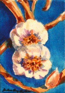 Two Garlics are Better than One original fine art by Joanne Perez Robinson