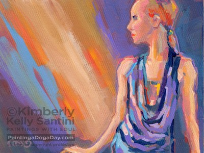 """Spotlight"" original fine art by Kimberly Santini"