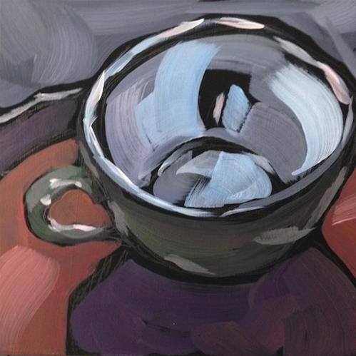 """Dan's Coffee Cup"" original fine art by Kat Corrigan"
