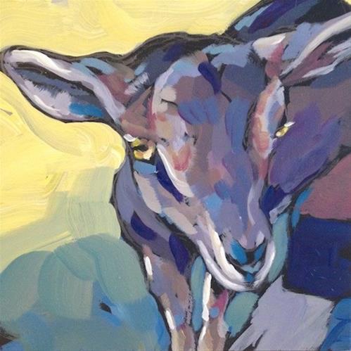 """Thinking Goat"" original fine art by Kat Corrigan"