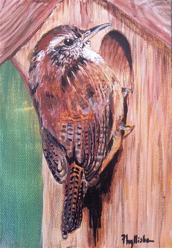 """House Wren"" original fine art by Phyllisha Hamrick"