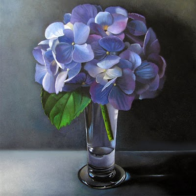 """Hydrangea  6x6"" original fine art by M Collier"