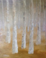 """Golden Birches"" original fine art by J H Graves"