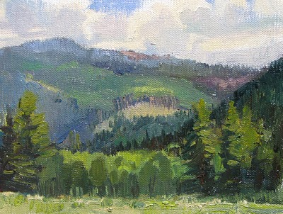 """San Juans in Green"" original fine art by V.... Vaughan"