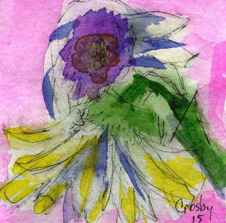"""Mortality is Beautiful"" original fine art by Donna Crosby"