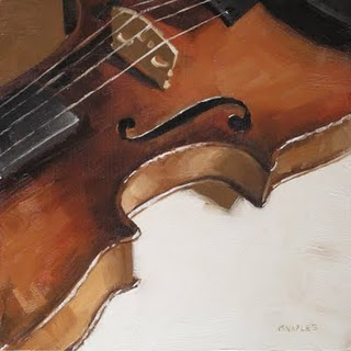 """Violin Detail"" original fine art by Michael Naples"