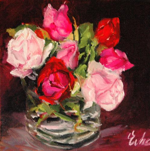 """Les roses d'octobre"" original fine art by Evelyne Heimburger Evhe"