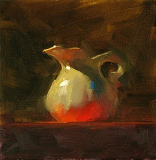 """Red Table Cloth"" original fine art by Qiang Huang"