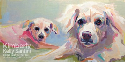"""Siblings"" original fine art by Kimberly Santini"