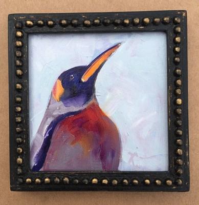 """""""Penguin"""" original fine art by Gigi ."""