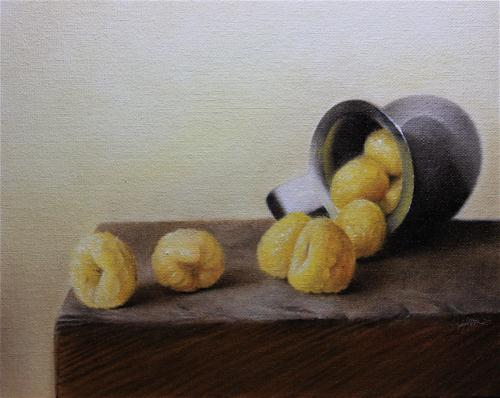 """Golden Raspberries"" original fine art by Jonathan Aller"