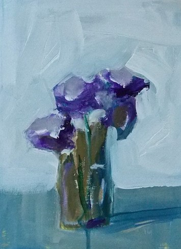 """Impressionistic Purple"" original fine art by Pamela Munger"