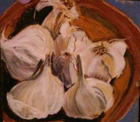 """garlic looked good today"" original fine art by Mary Davies Kerns"